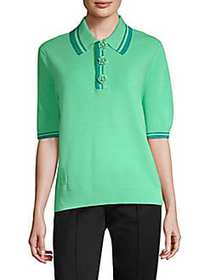 Marc Jacobs Metallic Stripe Polo Shirt MINT