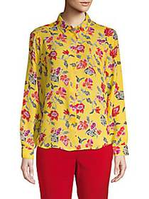 Philosophy Floral Long-Sleeve Blouse YELLOW MULTI