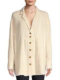 Free People All About The Feels Shirt IVORY