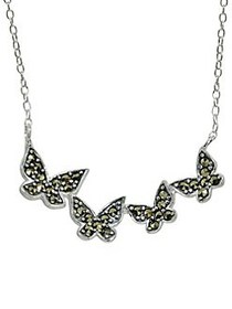 Lord & Taylor Sterling Silver & Marcasite Butterfl