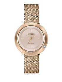 Citizen L Ambiluna Eco-Drive Rose Goldtone Stainle