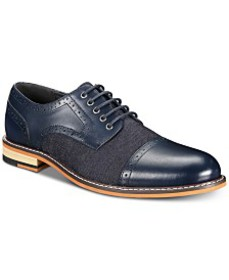 Bar III Men's Parker Cap-Toe Derby Shoes, Created