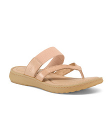 BORN Comfort Footbed Leather Sandals