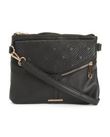 RAMPAGE Double Diamond Quilted Crossbody