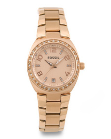 FOSSIL Women's Serena Crystal Bezel Bracelet Watch