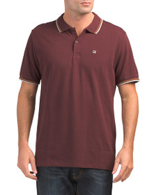 BEN SHERMAN Heathered Port Chest Detail Polo