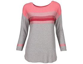 Natural Reflections® Women's Striped Colorblock Sw