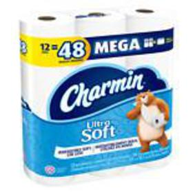 Charmin Ultra Soft Bath Tissue Mega Rolls Unscente