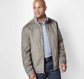 Johnston Murphy Perforated Microsuede Jacket