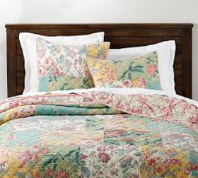 Pottery Barn Shirley Floral Reversible Patchwork Q