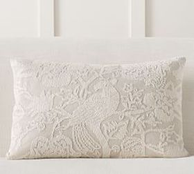 Pottery Barn Lottie Embroidered Lumbar PIllow Cove