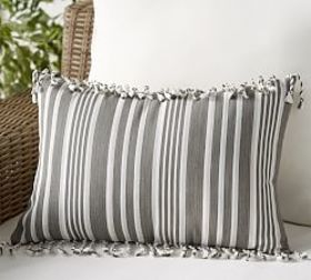 Pottery Barn Outdoor Melilla Fringe Lumbar Pillow