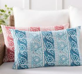 Pottery Barn Outdoor Quinta Print Lumbar Pillow
