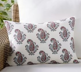 Pottery Barn Outdoor Signy Print Lumbar Pillow