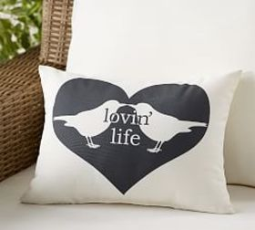 Pottery Barn Outdoor Lovin Life Birds Pillow