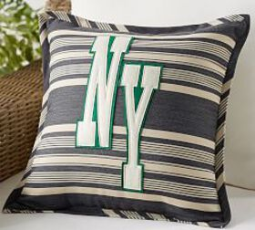 Pottery Barn Outdoor New York Applique Stripe Pill