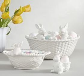 Pottery Barn Bunny Basket Serve Collection