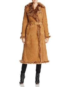 Burberry - Tolladine Long Shearling Trench Coat