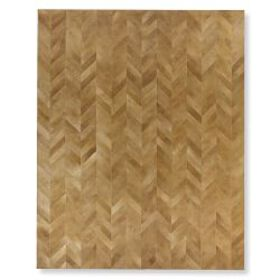 Pieced Chevron Hide Rug, Tan