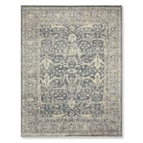Lily Fields Hand Knotted Rug, Blue