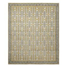 Neoclassical Hand Knotted Rug, Fall Leaf