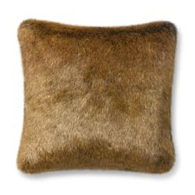 Faux Fur Pillow Cover, Red Nutria