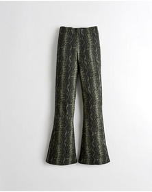 Hollister Ultra High-Rise Knit Flare Pants, GREEN