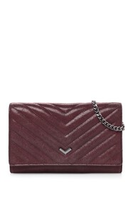 Botkier Soho Quilted Leather Wallet Chain Strap Cr