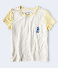 Aeropostale Seriously Soft Pineapple Graphic Girl