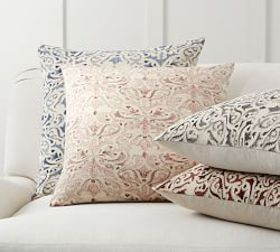 Pottery Barn Reilley Embroidered Pillow Covers