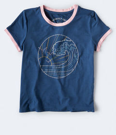 Aeropostale Seriously Soft Wave Graphic Girl Tee