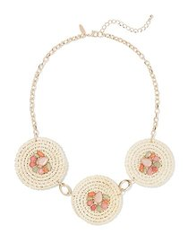 Goldtone 3-Disk Statement Necklace - New York & Co