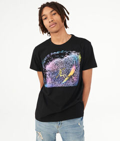 Aeropostale Rainbow Surfer Graphic Tee