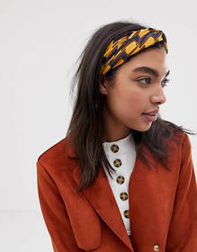 ASOS DESIGN headband with oversized twist front in