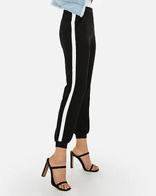 Express high waisted side stripe jogger pant