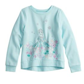Disney's Frozen Elsa Girls 4-12 Glittery Graphic S