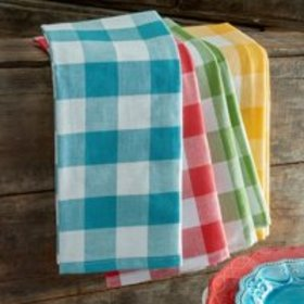 The Pioneer Woman Charming Check Kitchen Towels, S