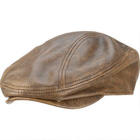 Wilsons Leather Distressed Leather Driving Cap