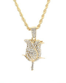 Buyers Picks blinged out rose chain