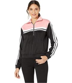 Juicy Couture Stripe Tricot 1\u002F2 Zip Track Jac