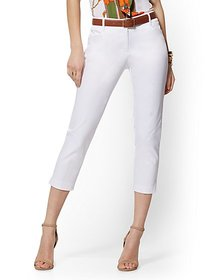 White Structured Crop Pant - Signature - 7th Avenu