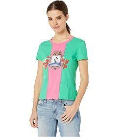 Juicy Couture Juicy Spliced Crest Graphic Tee