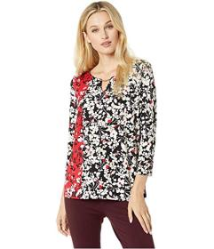 Calvin Klein Printed 3\u002F4 Sleeve with Hardware