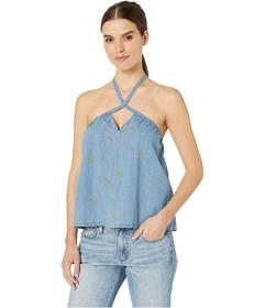 Juicy Couture Banana Print Chambray Top