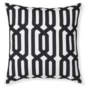 Printed Graphic Links Outdoor Pillow, Black