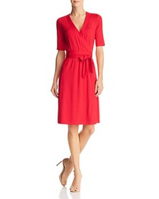 Adrianna Papell - Faux-Wrap Jersey Dress - 100% Ex