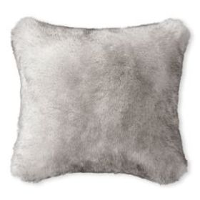 Faux Fur Pillow Cover, Siberian Wolf