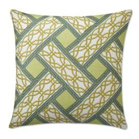 Eleni Printed Embroidered Pillow Cover, Green