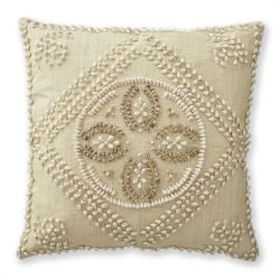 AERIN Shell and Raffia Pillow Cover, Medallion