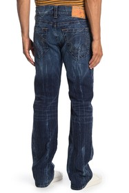 True Religion Straight Leg Whiskered Jeans